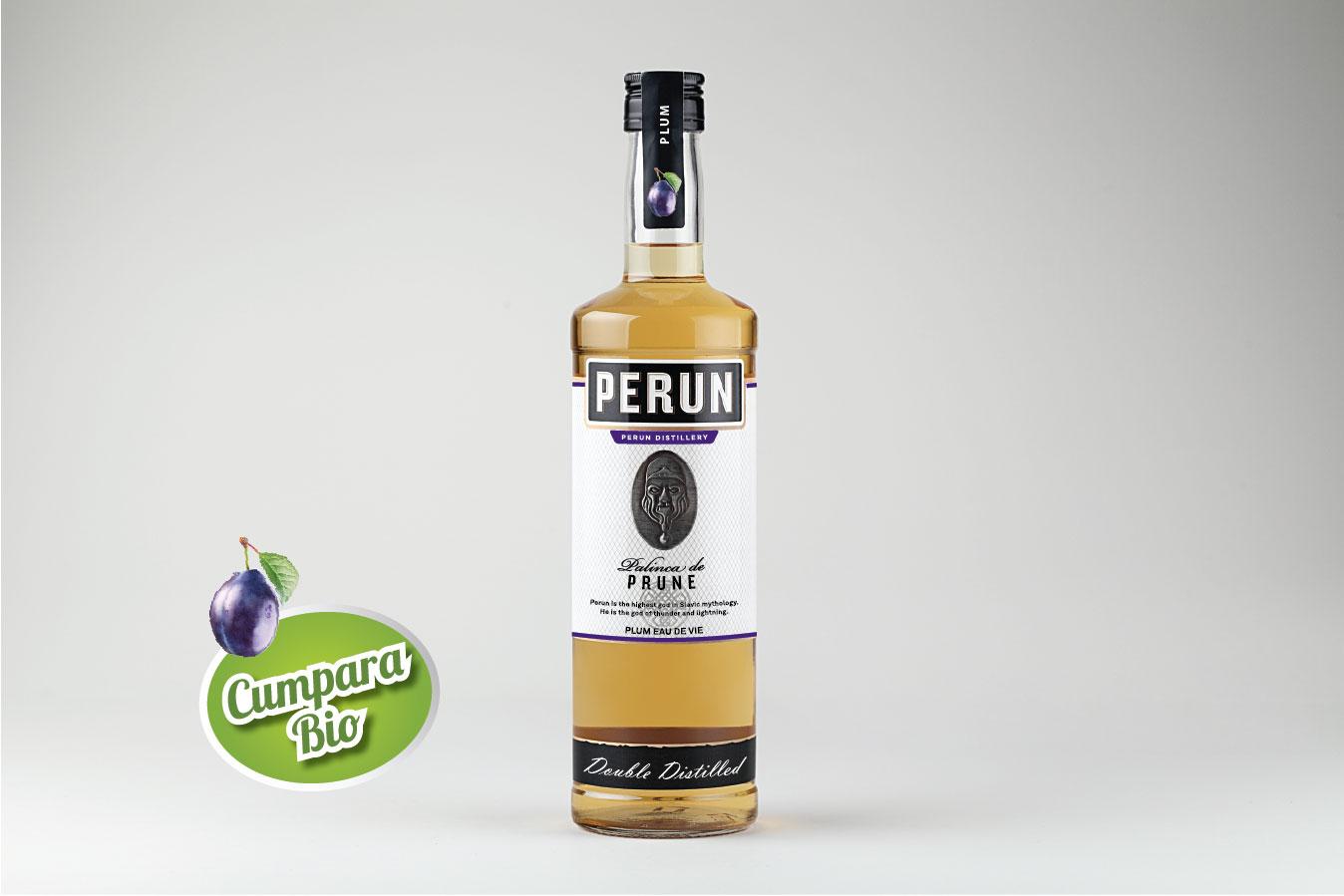 Perun Plum Brandy 1000ml alc.40%vol.